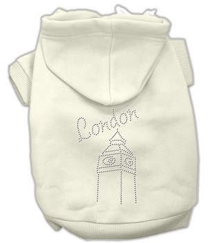 London Rhinestone Hoodies Cream XL